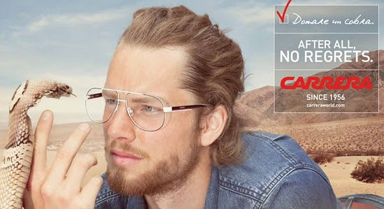 Carrera glasses campaign