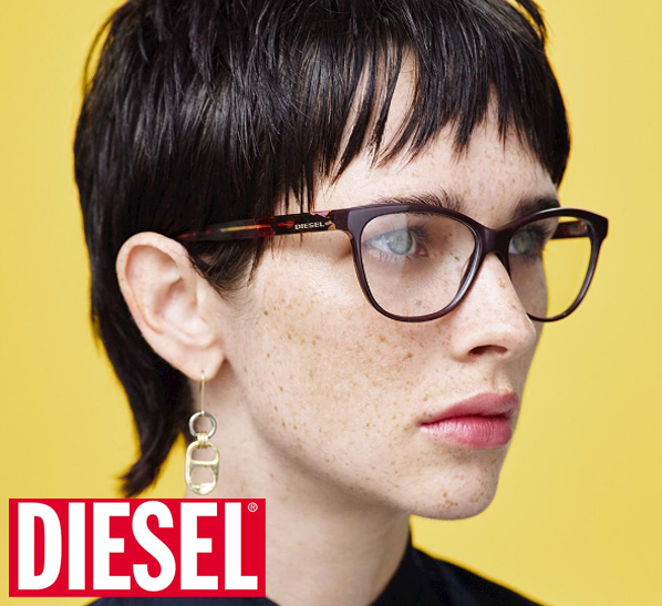 Diesel glasses on model