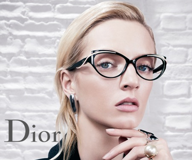 Dior glasses on a model