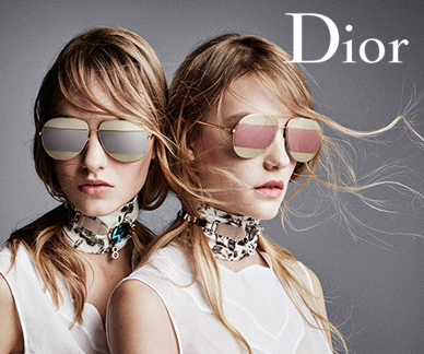 Dior sunglasses on a model