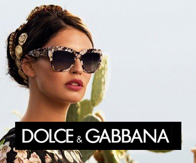Dolce Gabbana sunglasses on model