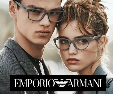 Emporio Armani glasses on models