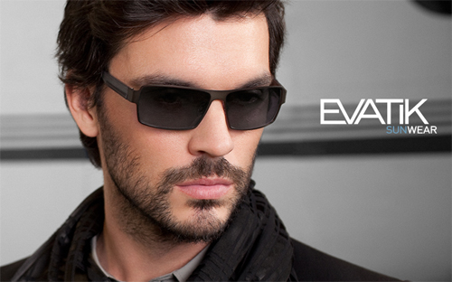 Evatik sunglasses on a model