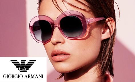 Giorgio Armani eyewear advertisement