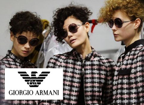 Giorgio Armani sunglasses advertisement