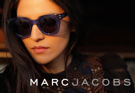 Marc by Marc Jacobs sunglasses on a model