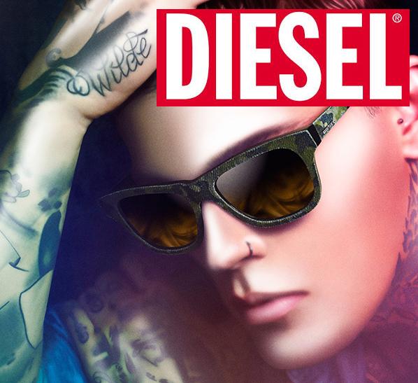 Diesel glasses on model