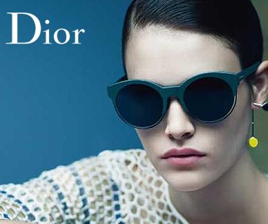 Dior sunglasses on a model