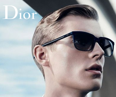 Dior Homme sunglasses on a model