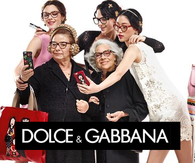 Dolce and Gabbana glasses on models