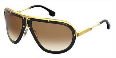 Carrera New Sunglasses Americana DYG Black Gold Yellow 66 18 120