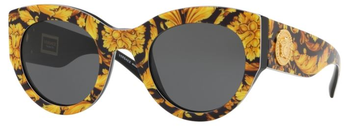 NEW Versace VE4353 521773 51mm Sunglasses Havana Brown Lens